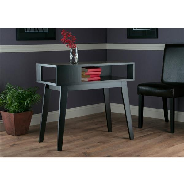 """Table Thompson, 34,83"""" x 34,02"""", bois, espresso"""