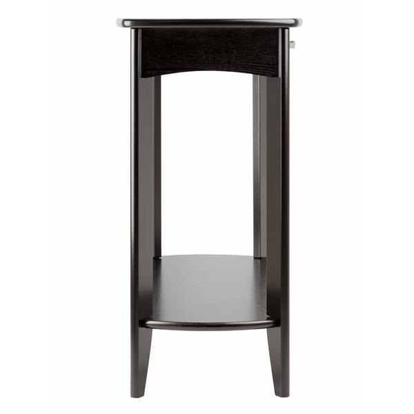"""Table Danica, 34"""" x 40"""", bois, espresso"""