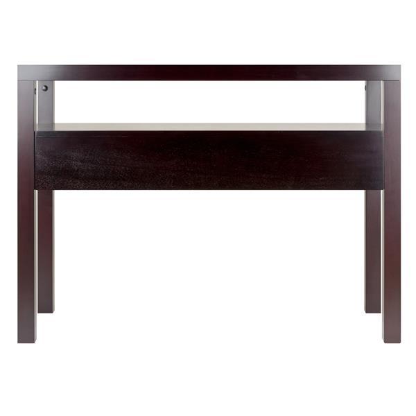 Winsome Wood Copenhagen 59.08-in x 40-in Espresso Wood Table