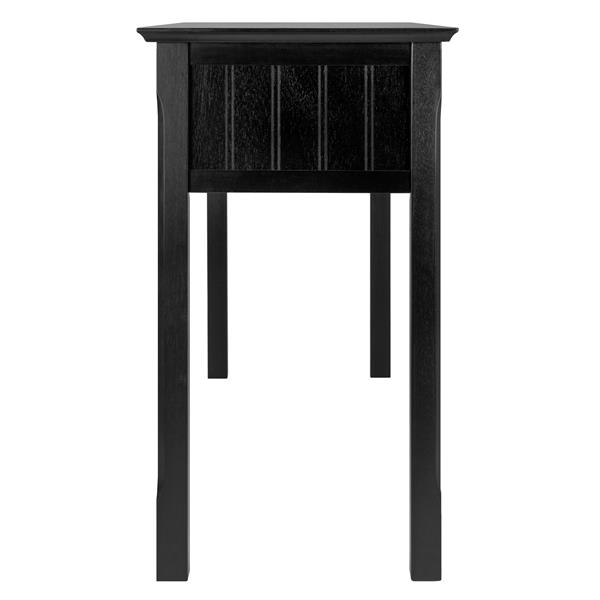 Winsome Wood Timber 45.7-in x 47.6-in Black Wood Table