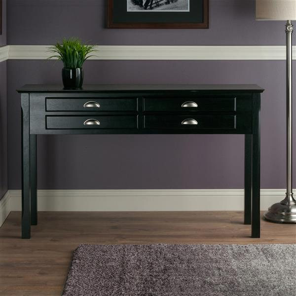 """Table Timber, 45,7"""" x 47,6"""", bois, noir"""