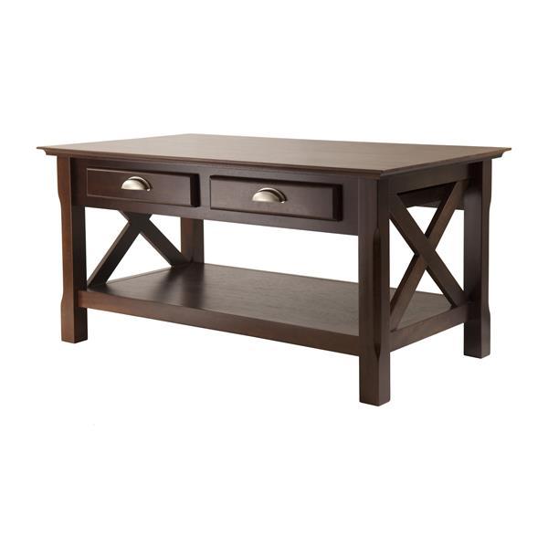 """Table à café Xola , 40"""" x 18,11"""", bois, espresso"""