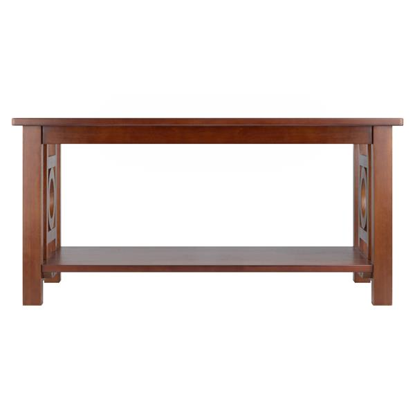 Winsome Wood Ollie Solid Wood 29.92-in x 17.99-in Dark Espresso Finish Rectangular Coffee Table