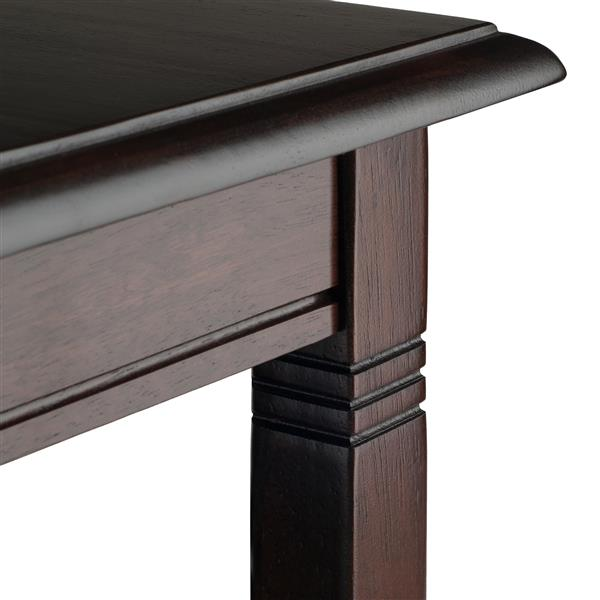 "Table à café Nolan, 37"" x 18,03"", bois, cappuccino"