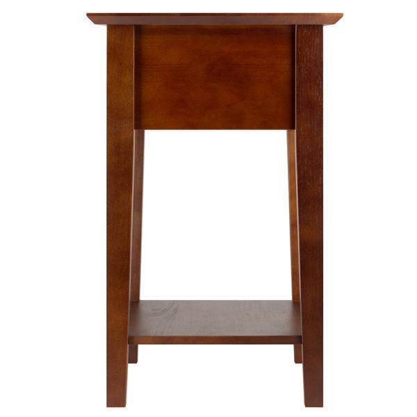 """Table Shaker, 22,05"""" x 25"""", bois, noyer"""
