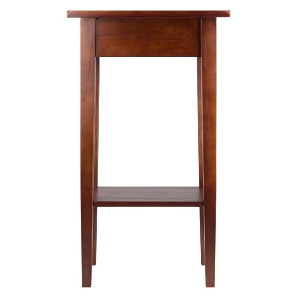 Winsome Wood Regalia 17-in x 29.5-in Walnut Wood Table