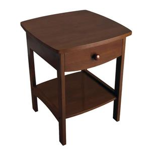 Winsome Wood Claire 18.03-in x 18.11-in x 22.05-in Walnut Wood Table