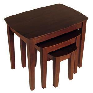 "Table Bradley, 26,77"" x 21,85"", bois, noyer"