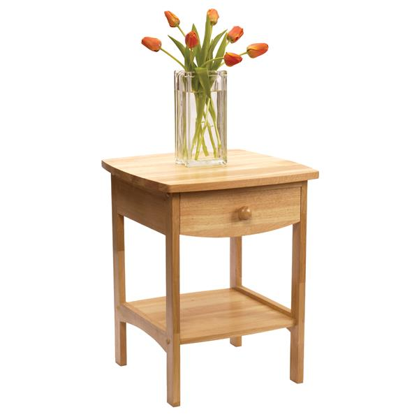 Winsome Wood Claire 18.03-in x 18.11-in x 22.05-in Natural Wood Table