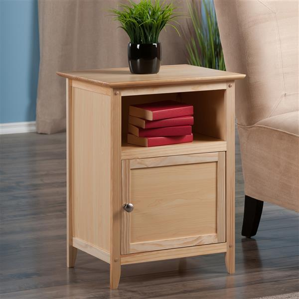 Winsome Wood Henry 18.9-in x 25-in Natural Wood Table