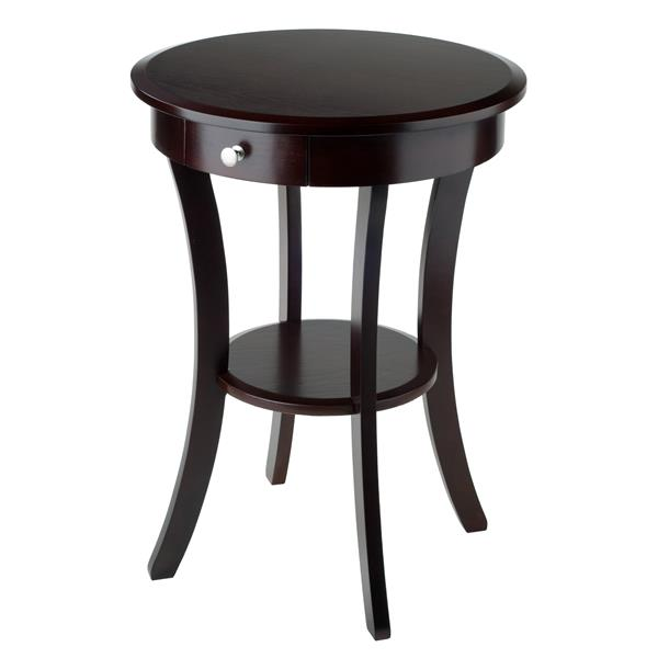 Winsome Wood Sasha 20-in x 27-in Cappuccino Wood Table