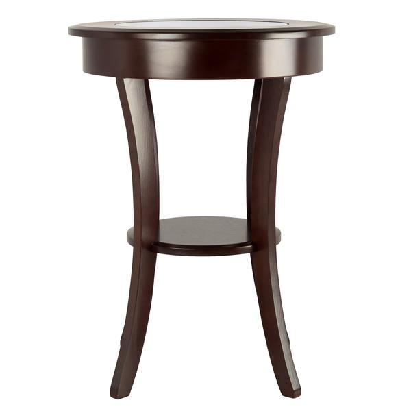 Winsome Wood Cassie 20-in x 20-in x 27-in Cappuccino Wood Table