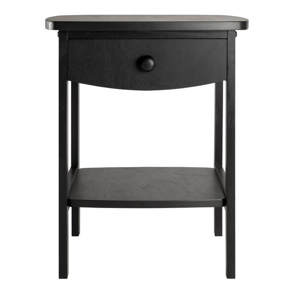 Winsome Wood Claire 18.03-in x 18.11-in x 22.05-in Black Wood Table