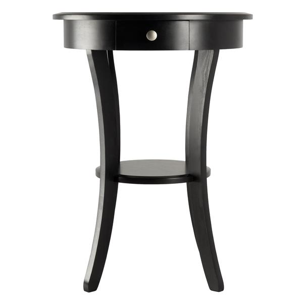 Winsome Wood Sasha 20-in x 27-in Black Wood Table