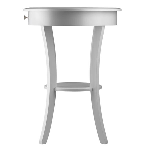 Winsome Wood Sasha 20-in x 27-in White Wood Table