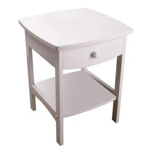 Winsome Wood Claire 18.03-in x 18.11-in x 22.05-in White Wood Table