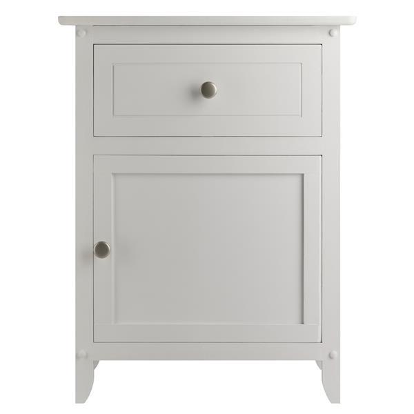 """Table Eugene, 18,9"""" x 25"""", bois, blanc"""