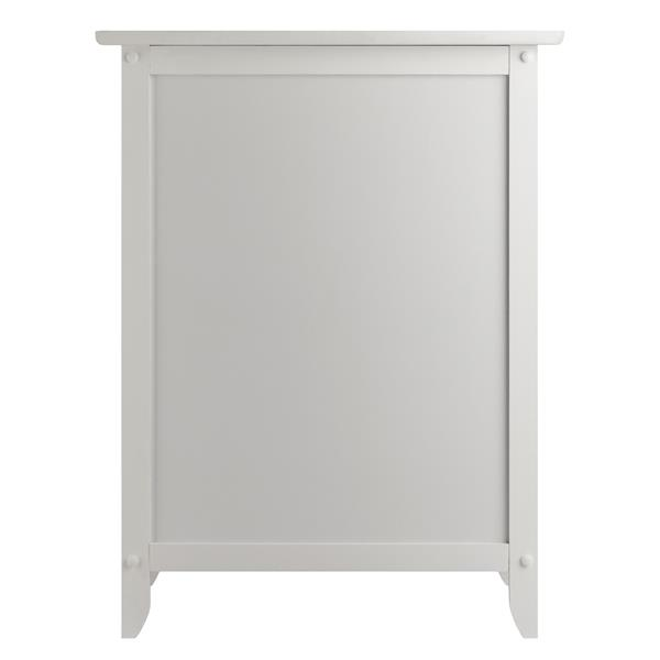 Winsome Wood Eugene 18.9-in x 14.9-in x 25-in White Wood Table
