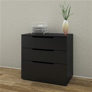 Nexera Next 3-Drawer Black Filing Cabinet