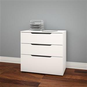 Nexera Arobas White 3-Drawer Filing Cabinet