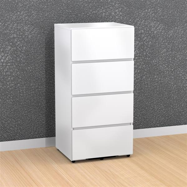 Nexera 3-Drawer White Filing Cabinet