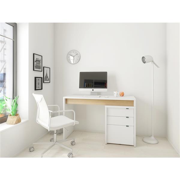 Surface de travail réversible, blanc/érable
