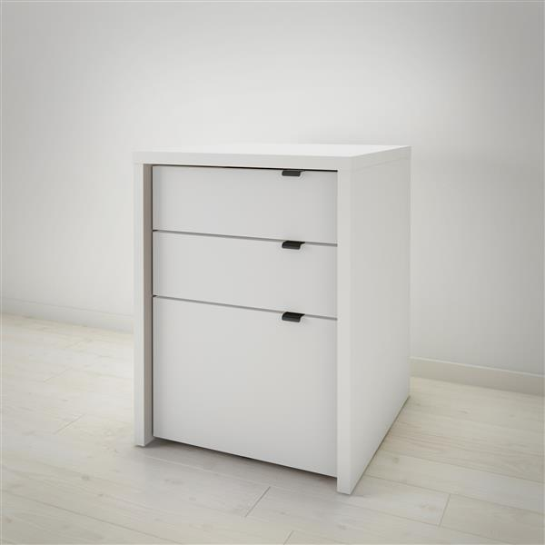 Classeur à 3 tiroirs Chrono, blanc
