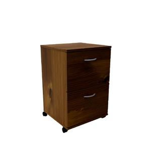 Essentials Mobile Filing Cabinet - 2-Drawer - Truffle
