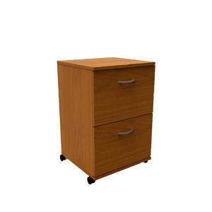 Essentials Cappuccino 2-Drawer Mobile Filing Cabinet