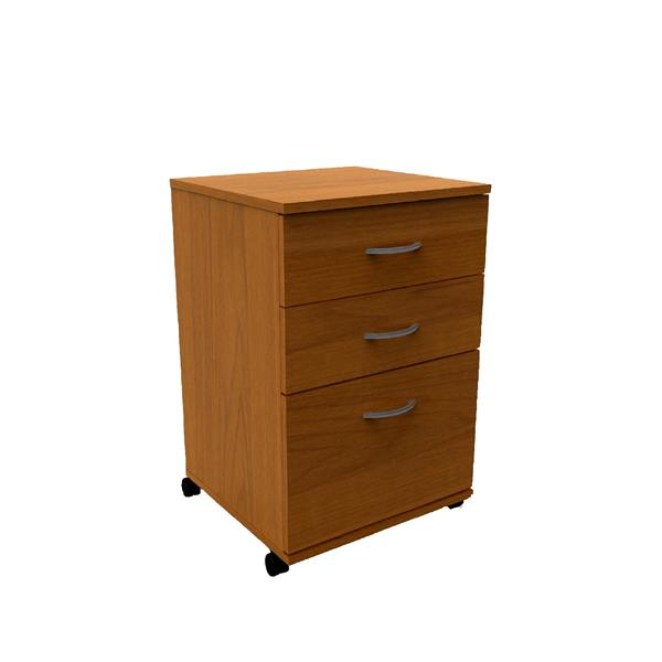 Nexera Essentials Cappuccino 3-Drawer Mobile Filing Cabinet