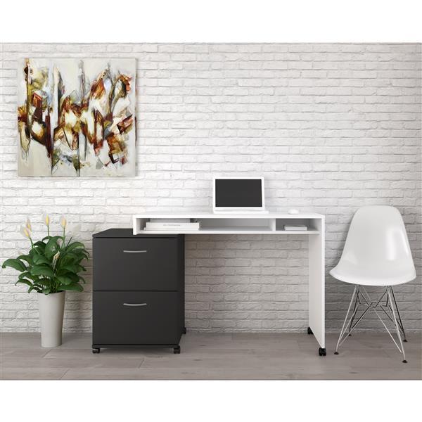 Nexera Essentials Black 2-Drawer Mobile Filing Cabinet