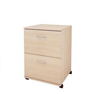 Essentials Mobile Filing Cabinet - Maple