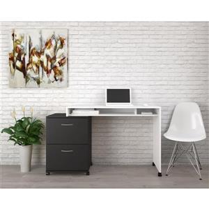Ensemble de bureau à 2 pièces Essentials, noir/blanc