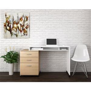 Nexera Essentials Maple and White 2-Piece Home Office Set