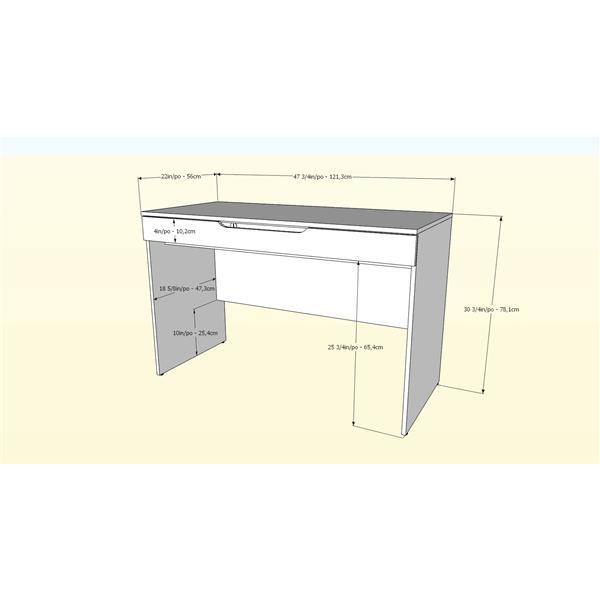 Nexera Arobas 2-Piece White Home Office Set