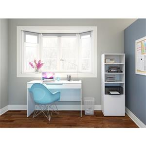 Nexera Arobas 2-Piece White Home Office Set