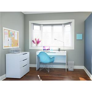 Arobas 2-Piece White Home Office Set