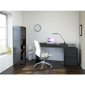 Sereni-T Black and Ebony 3-Piece Home Office Set