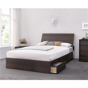 Nexera Celeste 3 Piece Ebony Full Bedroom Set