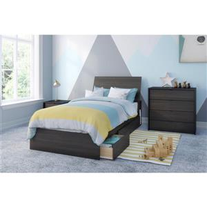 Nexera Celeste 4 Piece Ebony Twin Bedroom Set