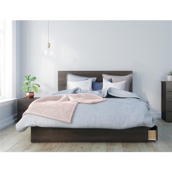 Nexera Alaska 3 Piece Ebony Queen Bedroom Set