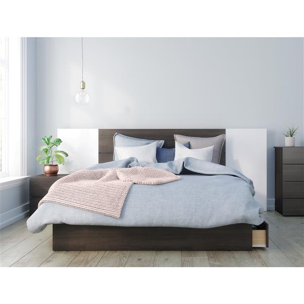 Nexera Alaska 4 Piece Ebony Queen Bedroom Set