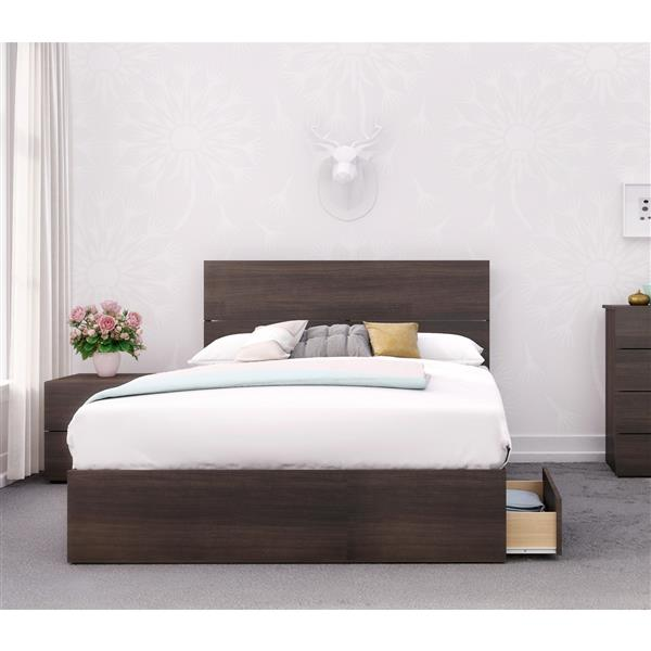 Nexera Alaska 3 Piece Ebony Full Bedroom Set