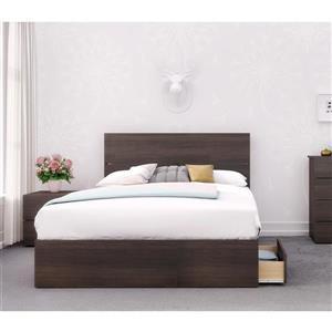 Nexera Alaska 3 Piece Ebony Full Bedroom Set