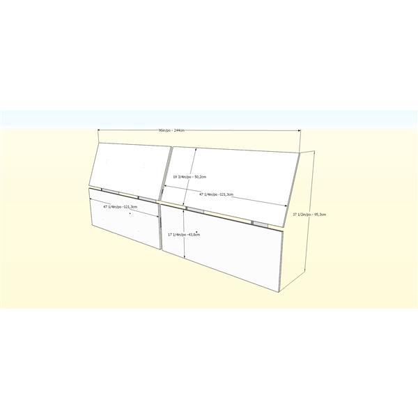 Nexera 2 Piece Walnut Full Bedroom Set with Storage