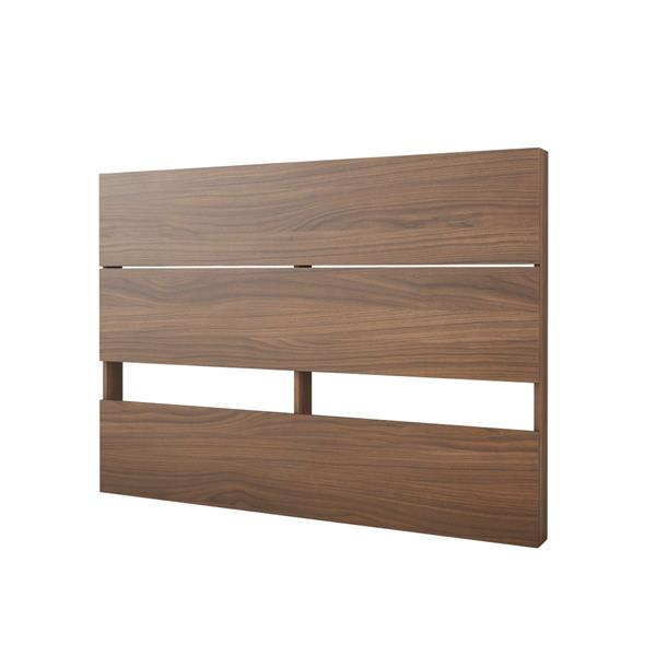 Nexera 3 Piece Walnut and White Full Bedroom Set with Storage