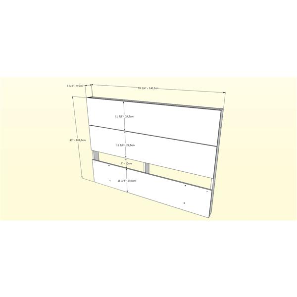 Nexera 2 Piece Ebony Full Bedroom Set with Storage