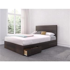 Nexera 2 Piece Ebony Full Bedroom Set with Storage