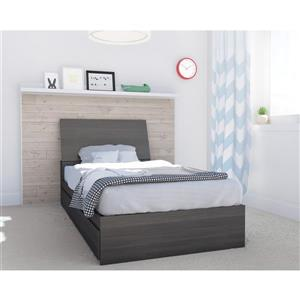 Nexera Allure 2 Piece Ebony Twin Storage Bedroom Set