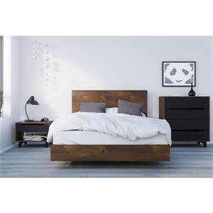 Nexera Barista 4 Piece Truffle and Black Full Bedroom Set